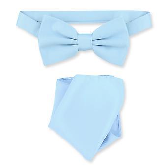Vesuvio Napoli BowTie Solid Mens Bow Tie & Handkerchief