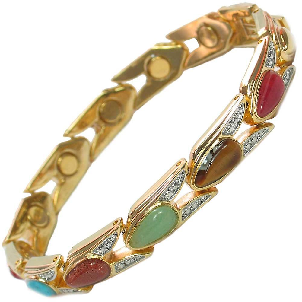 MPS® VENICE Assorted Stones Magnetic Bracelet + FREE Links Removal Tool