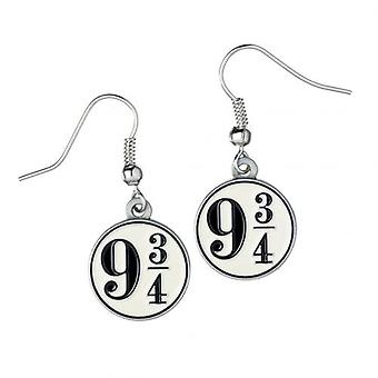 Harry Potter Silver Plated Earrings 9 & 3 Quarters