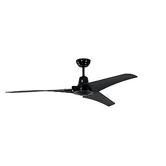 Industrial ceiling fan Vourdries Black with remote control