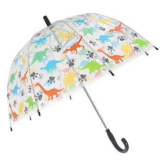 X-Brella Childrens/Kids Transparent Dinosaur Themed Stick Umbrella