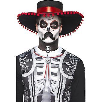 Día de los muertos Se±or huesos Kit de maquillaje, negro y blanco