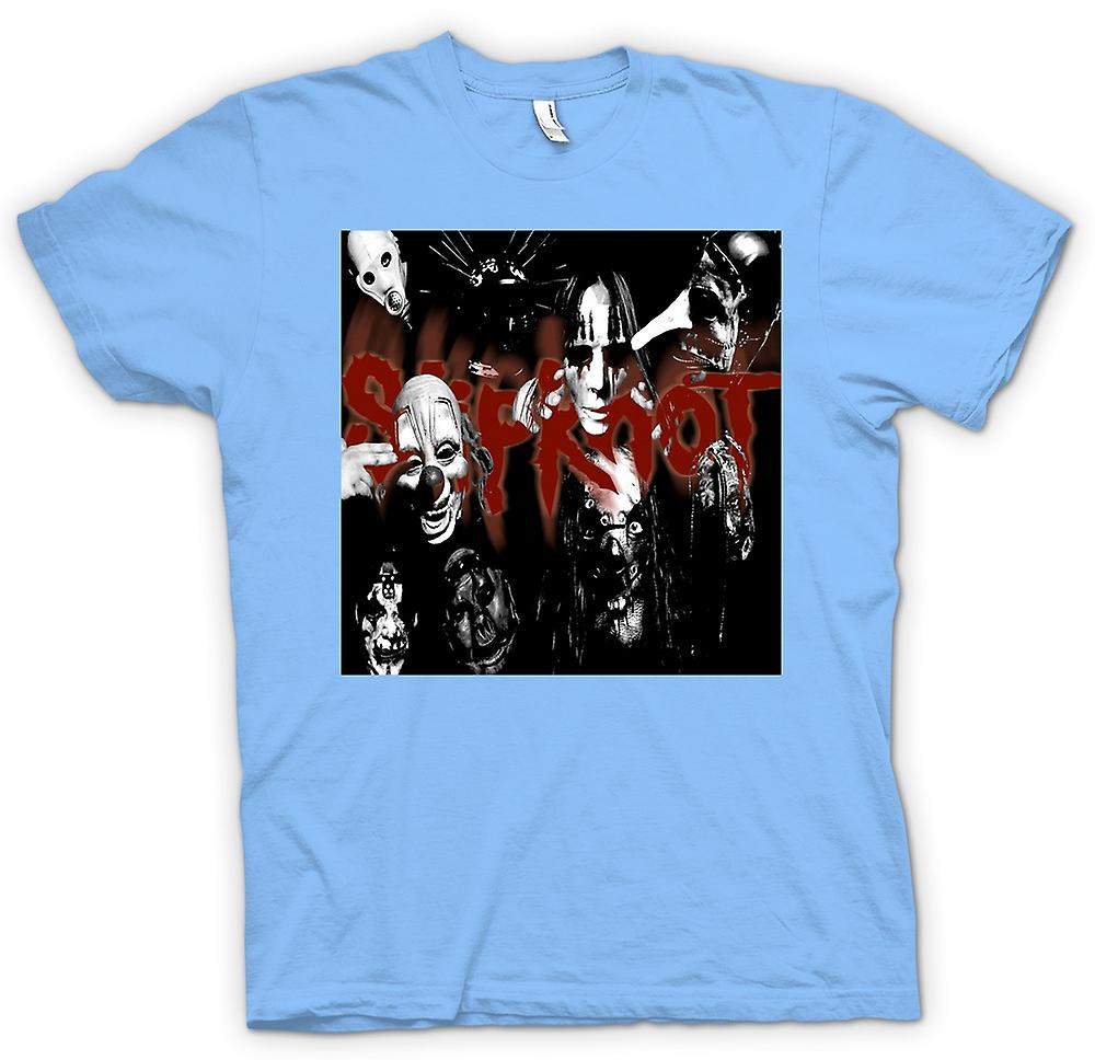 Mens T-shirt - Slipknot - Heavy-Metal-Band