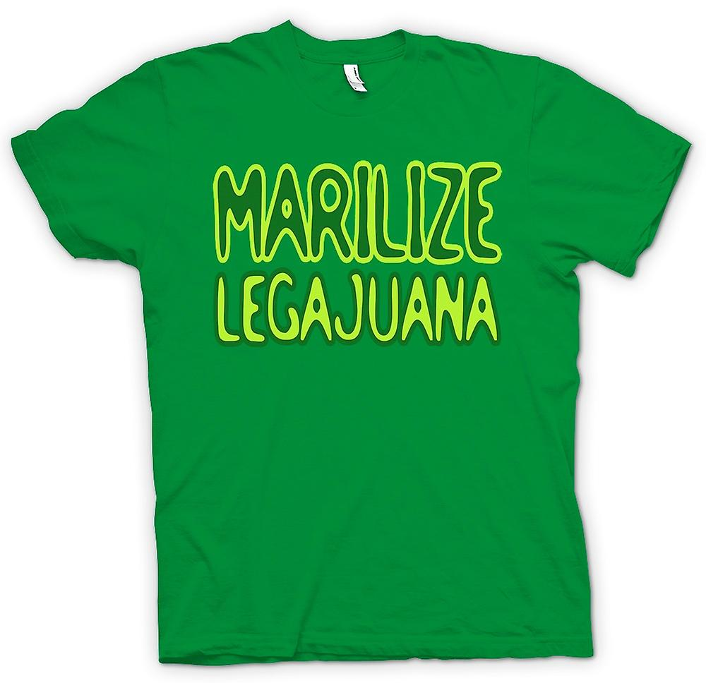 Mens T-shirt-Marilize Legajuana onkruid