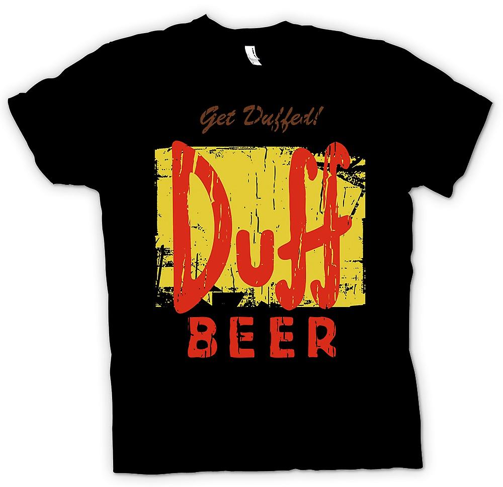Mens t-shirt - Get Duffed - Duff Beer