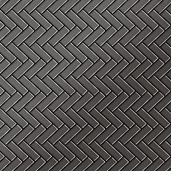 Metal mosaic Titanium ALLOY Herringbone-Ti-SB
