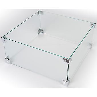 Happy Cocooning glas konvertering udendørs pejs firkantede 40x40xH17 cm