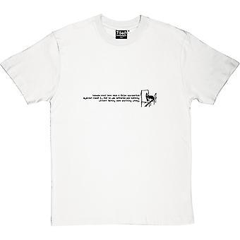Die Testversion Öffnung Linien Männer T-Shirt