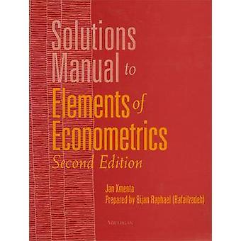 Elemente der Ökonometrie (2nd Revised Edition) von Jan Kmenta - 978047