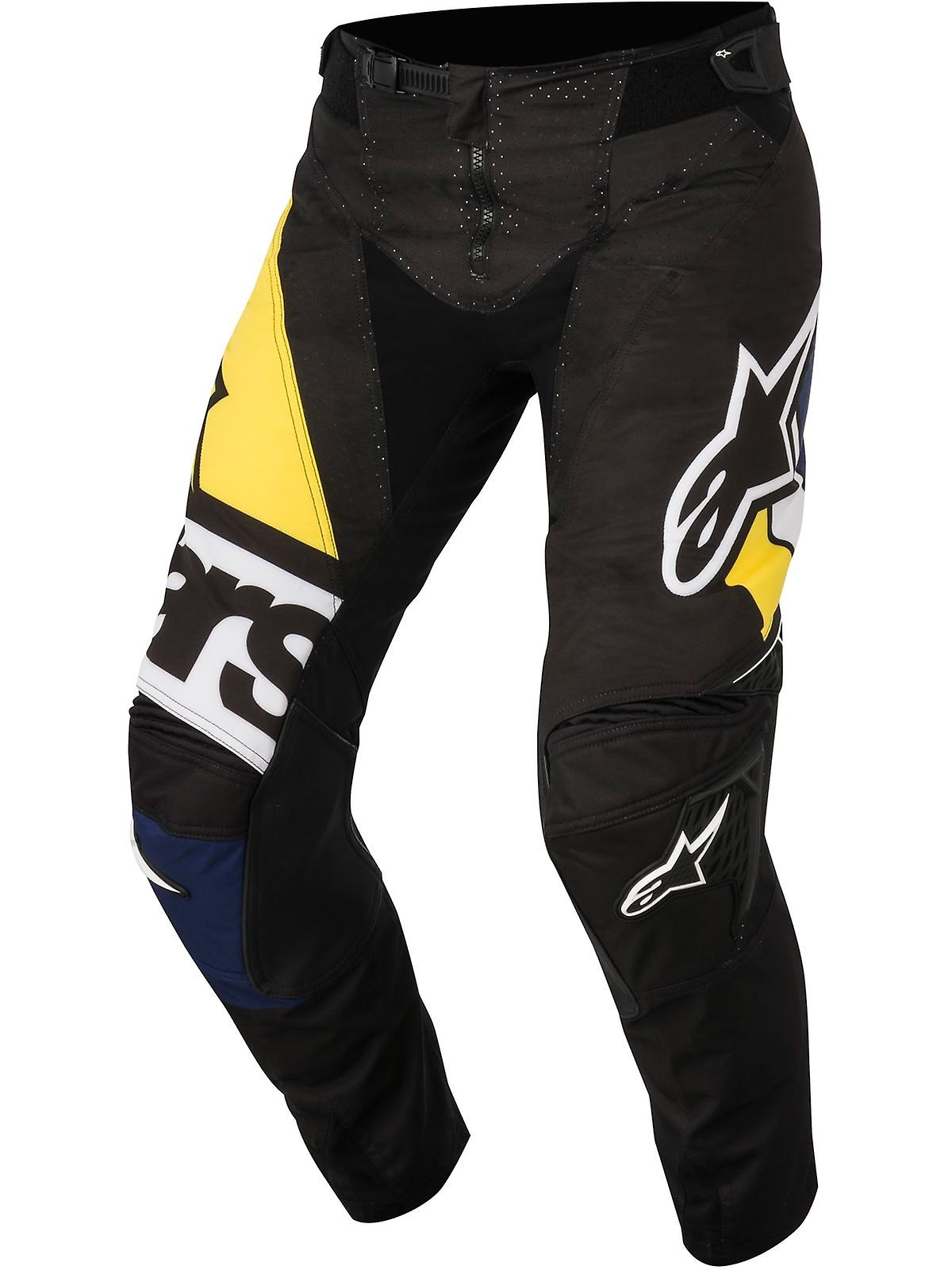 Alpinestars Black-Blue-Yellow 2018 Techstar Factory MX Pant