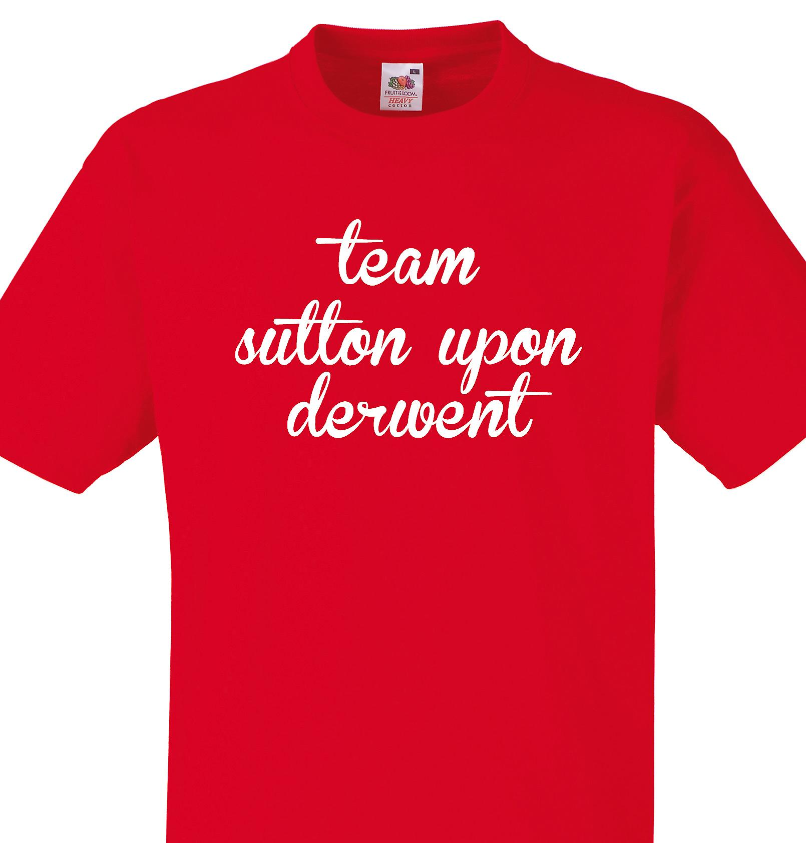 Team Sutton upon derwent Red T shirt