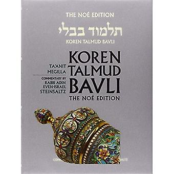 Koren Talmud Bavli No, Vol 12: Ta'anit, Megilla, Hebrew/English, Large,Color Edition