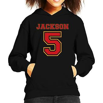 Jackson 5 College Sports Text Kid's Hooded Sweatshirt