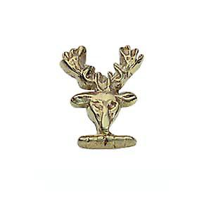 9ct Gold 10x8mm Stags head embossed Tietack