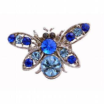 Elegant Gift Aquamarine Bumble Bee Brooch