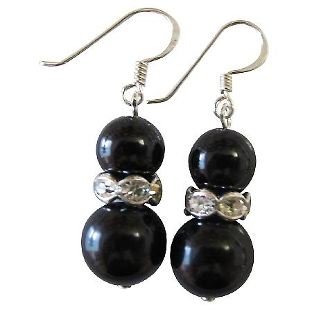 Gorgeous Black Jewelry Black Pearls Bridal Bridesmaid Jewelry