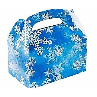 6 Christmas Snowflake Treat or Party Food Lunch Boxes