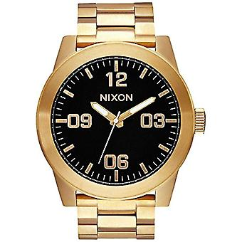 Nixon Mens Quartz analog watch with stainless steel band A346-510-00