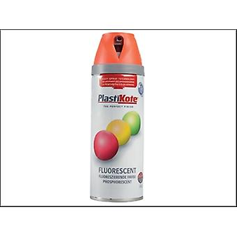 Plasti-kote tordre & pulvériser Fluorescent Orange 400ml