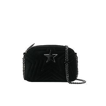 Stella Mccartney Star Mini Black Velvet Shoulder Bag