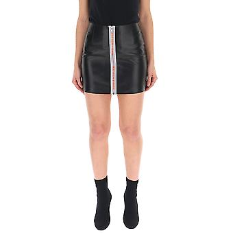 Heron Preston Black Leather Skirt