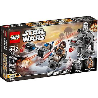 Microfighters LEGO 75195 sci Speeder vs primo ordine Walker