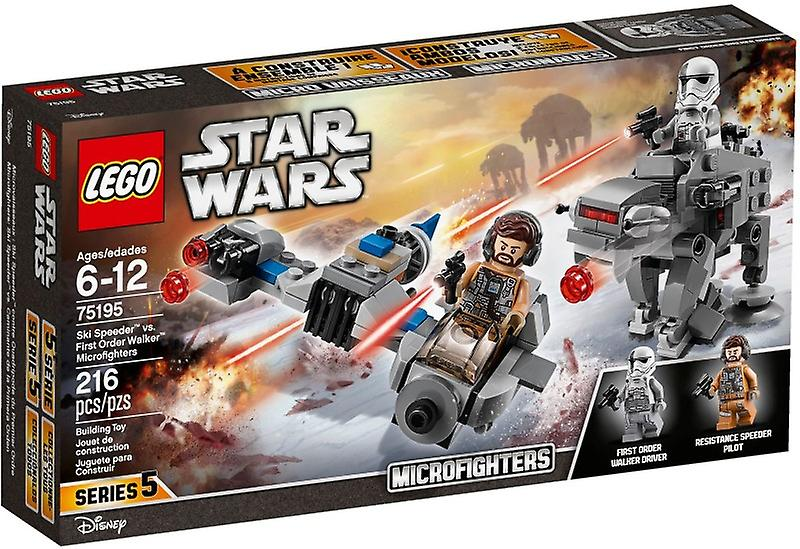 LEGO 75195 Ski Speeder vs. First Order Walker microfighters