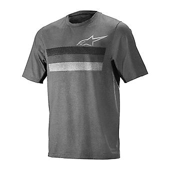 Alpinestars Dark Grey Black 2019 Alps 6.0 Short Sleeved MTB Jersey