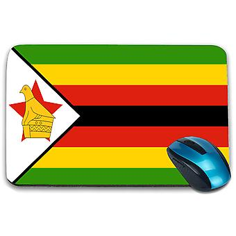i-Tronixs - Zimbabwe Flag Printed Design Non-Slip Rectangular Mouse Mat for Office / Home / Gaming - 0197