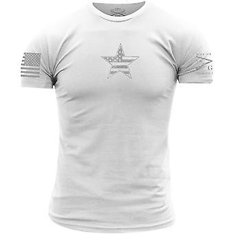 Grunt Style Basic American Star T-Shirt - White