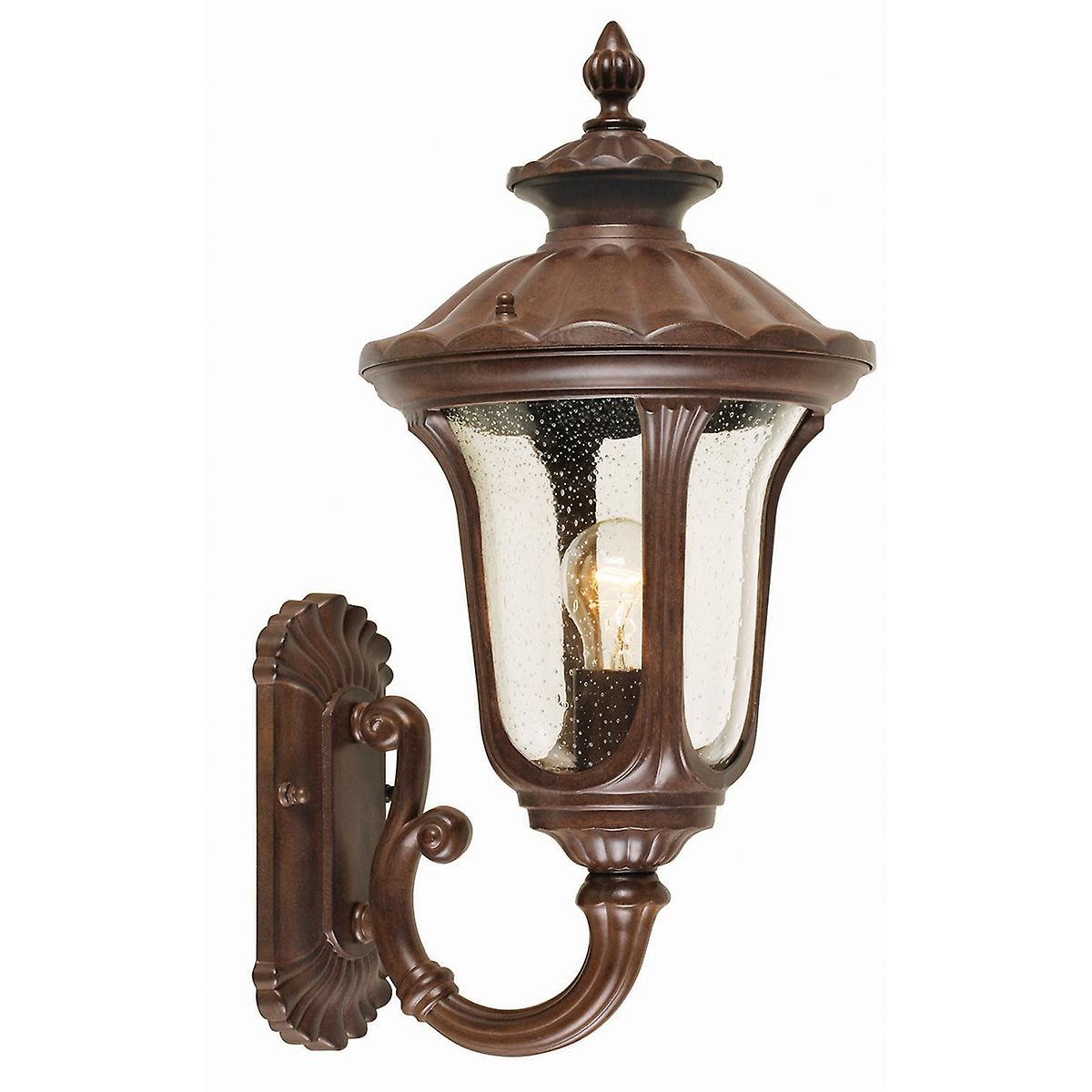 Elstead CC1/S Chicago Small Outdoor Wall Up Lantern with Textured Glass