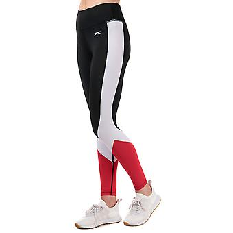 Womens Slazenger Vision Colourblock Leggings In Jet Black / Lollipop