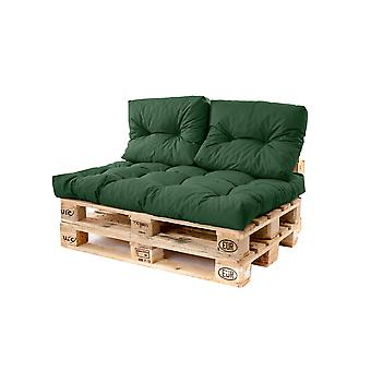 Gardenista® Water Resistant Green Tufted EU Pallet Seating Small Back Cushion