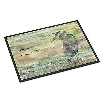 Carolines Treasures  SC2019JMAT Blue Heron Sunset Indoor or Outdoor Mat 24x36