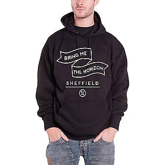 Bring Me The Horizon Mens Hoodie Black Banner band Logo Official