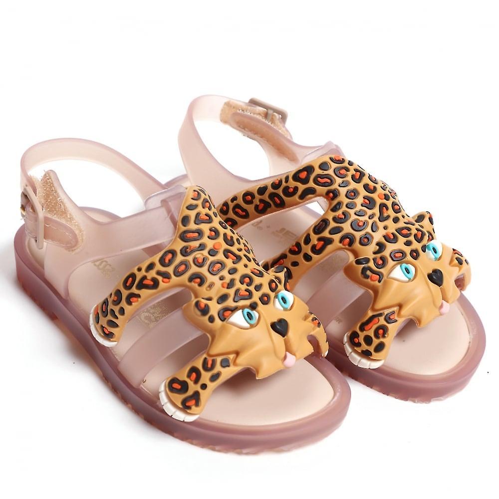 Melissa chaussures Mini JS Flox Leopard Sandal, Nude