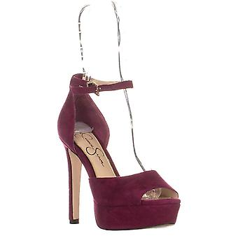 Jessica Simpson Womens Beeya Suede Open Toe Ankle Strap Classic Pumps