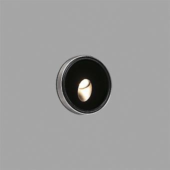 Faro - Dang Black LED Outdoor Recessed Wall Light FARO70446