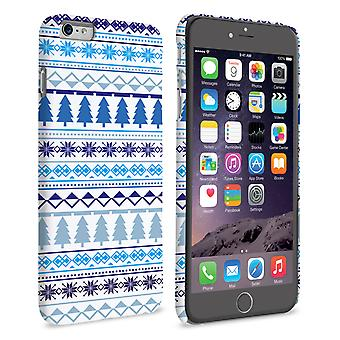 Caseflex iPhone 6 Plus en 6s Plus Fairisle kerstboom Hard wit blauw