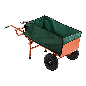 2 in 1 Heavy-duty Industrial Lightweight Folding Barrow Truck Trolley Hand Cart