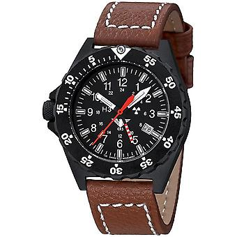 KHS Shooter GMT with leather strap buffalo leather brown - KHS. Shg. LB5