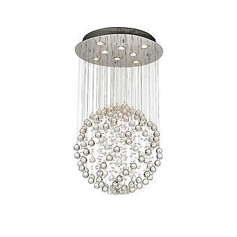 Diyas Colorado Pendant Medium Sphere 8 Light Polished Chrome/Crystal