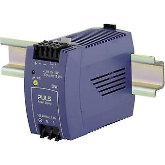 PULS MiniLine ML50.102 Rail mounted PSU (DIN) 12 Vdc 4.2 A 50 W 1 x
