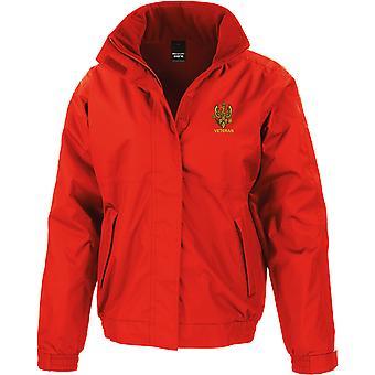 14th 20th Kings Hussars veteran-licenseret British Army broderet vandtæt jakke med fleece indre