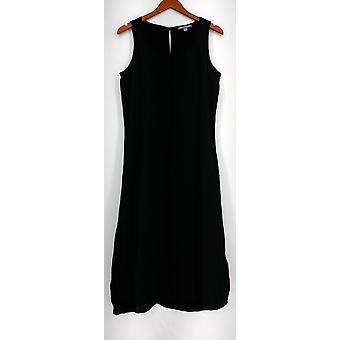 Kate et Mallory Dress Scoop Neckline Sleeveless Dress w/ Seam Black A426104