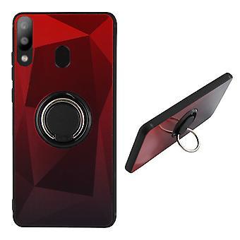 BackCover Ring / Magneet Aurora Samsung A20/A30 Rood+Zwart
