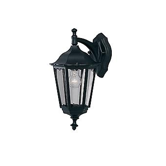Bel Aire svart utomhus trädgård vägg Downlight lykta - strålkastare 82531BK
