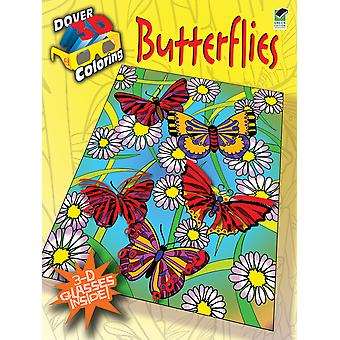 Dover Publications Butterflies Coloring Book 3D Dov 48161