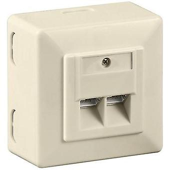 Network outlet Surface-mount CAT 6 2 ports Goobay Beige