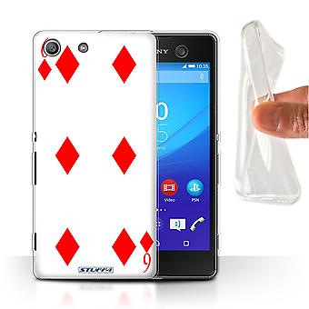 STUFF4 Gel/TPU Custodia/Cover per Sony Xperia M5/6 di diamanti/Playing Cards